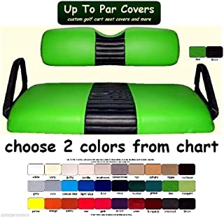 E-Z-Go RXV Custom 1-Stripe Golf Cart Seat Cover Set Made with Marine Grade Vinyl - Staple On - Choose Your Colors From Our Color Chart!
