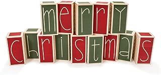 merry christmas block sign