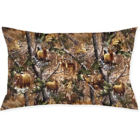 Amazon Com Polyester Soft Rectangle Zippered Pillow Case Cover 12 X 20 Inches Camouflage Camo Tree Hunter Dry Branches Leaves Oak Woodland Camo Home Kitchen