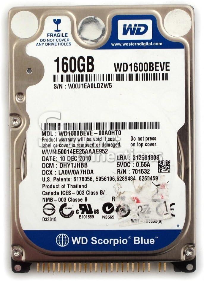 WD Scorpio 25% OFF WD1600BEVE - hard drive ATA-100 160 Washington Mall GB