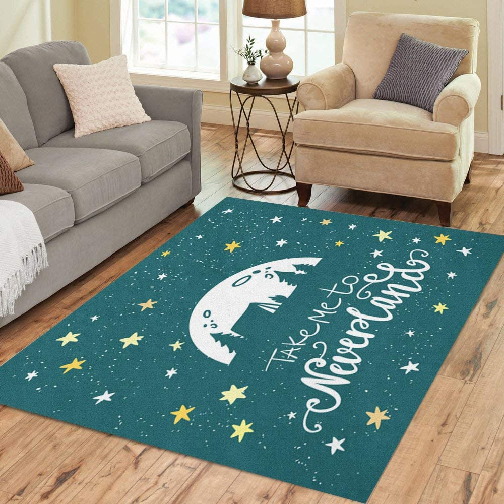 Sales results No. 1 Pinbeam Area Rug Take Me to Neverland Travel Max 58% OFF Lettering and Adven
