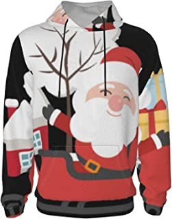 Men's warm sweater, Christmas theme, round pullover,...