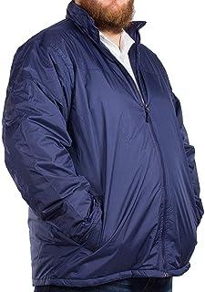 D555 Mens Duke Big Tall King Size Cassian Lightweight Padded Jacket - Navy Blue