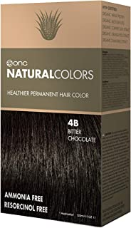 ONC NATURALCOLORS 4B Bitter Chocolate Healthier Permanent Hair Color Dye 4 fl. oz. (120 mL) with Certified Organic Ingredients, Ammonia-free, Resorcinol-free, Paraben-free, Low pH, Salon Quality, Easy
