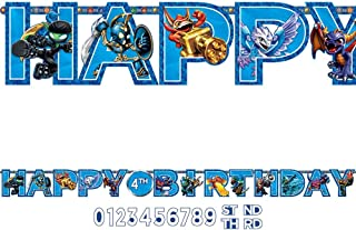 amscan Swashbuckling Skylanders Jumbo Add an Age Letter Banner Birthday Party Decoration (1 Piece), 10 1/2' x 10