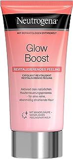 Neutrogena Glow Boost Revitaliserande peeling, ansiktsskrubb med mandelsyra och naturliga exfolierande kulor, för en ren o...