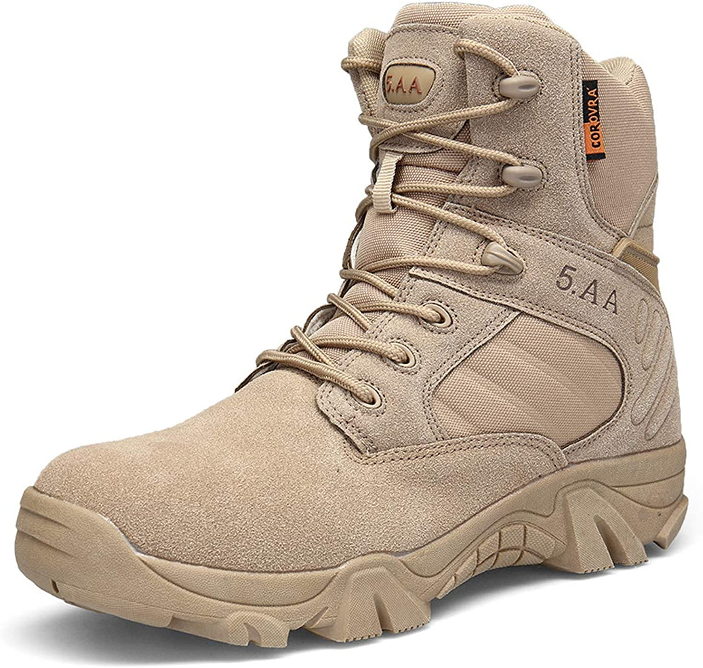 Men's High Wear Wear Outdoor Military Boots Tactical Boots Large Size Sandproof Waterproof Desert Combat Boots Men's shoes