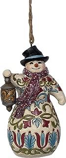 Enesco Jim Shore Heartwood Creek Victorian Snowman with Lantern Ornament
