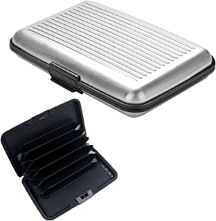 True Face RFID Blocking Anti Scan Aluminium Security Wallet Card Holder Hard Case for Credit Debit ID UK EU Driving Licens...