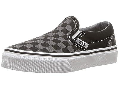 Vans Kids SINGLE SHOE Classic Slip-On (Little Kid/Big Kid) ((Checkerboard) Black/Pewter) Kid