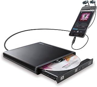 ロジテック CDドライブ スマホ タブレット向け 音楽CD取り込み USB2.0 Type-C変換アダプタ付 ブラック LDR-PMJ8U2RBK