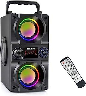 Bluetooth Speaker, 40W (60W Peak) Portable Wireless Speaker with Colorful Lights, Double Subwoofer Heavy Bass, FM Radio, M... photo