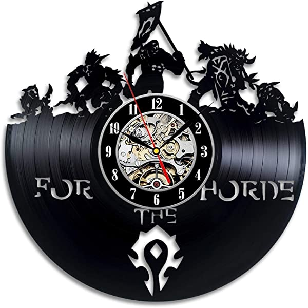 Wood Crafty Shop World Of Warcraft Art Design Clock Vinyl Record Wall Clock Gift For Him And Her Unique Wall Decor The Best Gift Idea For Any Event Birthday Gift Wedding Gift