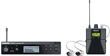 Shure P3TRA215CL PSM300 Wireless Stereo Personal Monitor System with SE215-CL Earphones, K12