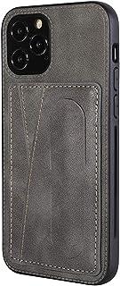 Serious Lamp Funda Anticaída para iPhone 12 Mini, 12 Pro MAX, 12/12 Pro con Soporte de Resorte Cubierta de Cuero Durable R...