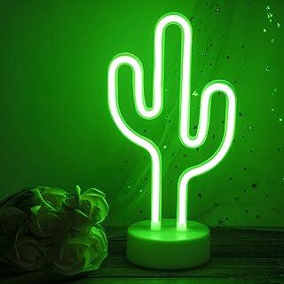 Bohaluo Kaktus-Nachtlicht, LED-Neonschilder mit Sockel, Neon-LED-Lichter, batteriebetrieben oder USB-betrieben, Neonlicht-...