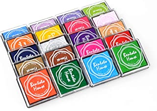 GooMart 20 Colors Rainbow Craft Finger Ink pads for Rubber Stamps Card Making