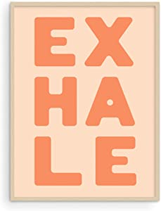Haus and Hues Inhale Exhale Wall Art and Yoga Poster - Inhale Exhale Prints and Yoga Quotes Wall Decor | Inhale Wall Art Poster Inhale Exhale Wall Decor Yoga Meditation Art | UNFRAMED 12