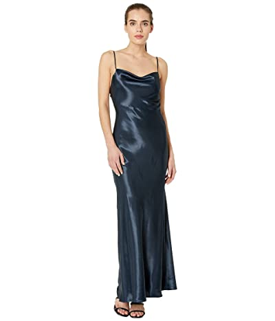 Bardot Estrelle Drape Dress (Black Iris) Women