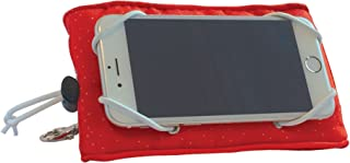 Manhattan Toy Adjustable Vertical and Horizontal Red Phone Wedge Cell Phone Holder for Iphone/Galaxy/Google Pixel +