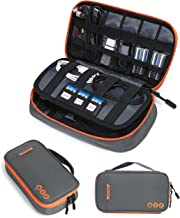 BAGSMART Electronic Organizer Travel Cable Organizer Bag Portable Electronic Accessories Bag for Cable, USB, Grey