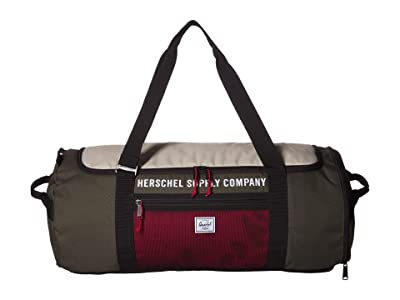 Herschel Supply Co. Sutton Carryall (Dark Olive/Overcast/Black/Red) Duffel Bags