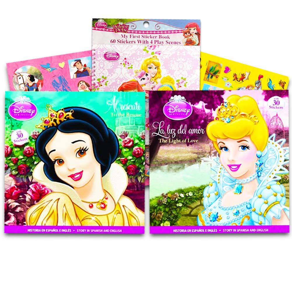 مجموعة كتب قراءة أميرات ديزني مجموعة من 4 قصص وملصقات كلاسيكية إسبانية والإنجليزية Amazon Ae