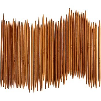 11 Sets Bambus Stricknadel Set Dual Spitz 11 Größen 2~5mm Länge 13cm Nadelspiel