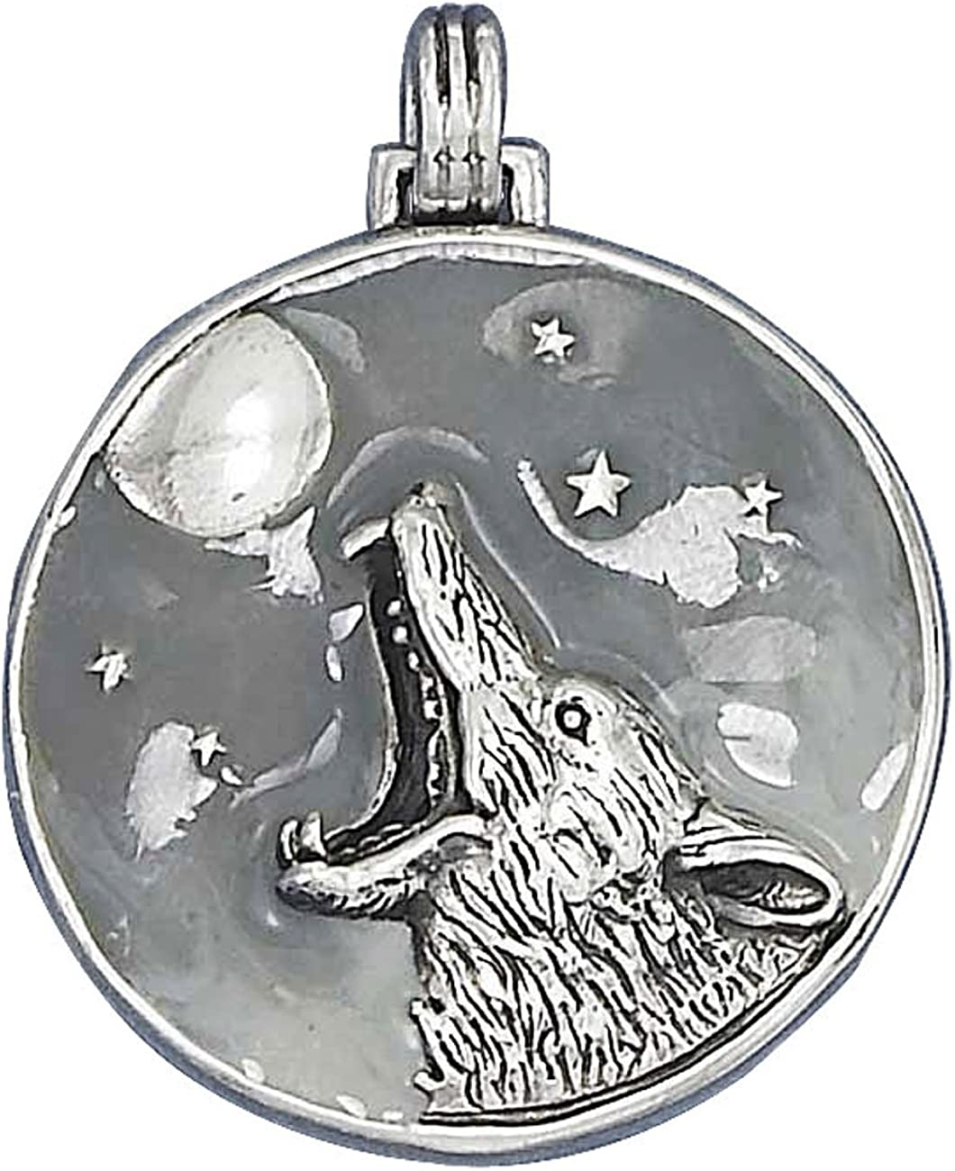Sterling Sales of SALE items from new works Silver Girls Outlet sale feature .8mm Box Chain The Wolf Howling At Coyote