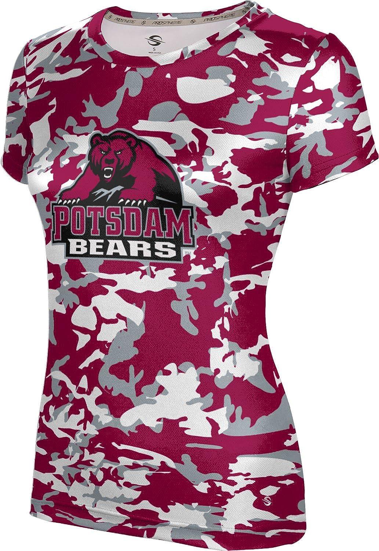 State University of New York at Potsdam Girls' Performance T-Shirt (Camo) F99C5