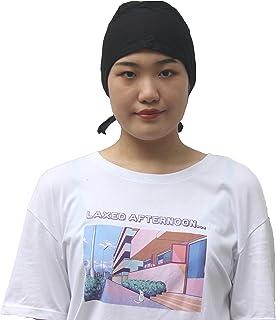 قبعات وشاح للنساء من القطن قبعة عمامة مع أغطية رأس مربوطة في الخلف