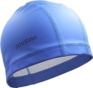 Poqswim Adult Size Lycra Swim Cap with PU Coat Can Fit...