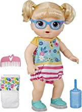Baby Alive Step 'N Giggle Baby Blonde Hair Girl Doll with Light-Up Shoes, Responds with 25+ Sounds & Phrases, Drinks & Wets, Toy for Kids Ages 3 Years Old & Up