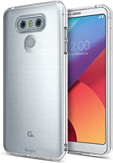 Ringke Air Compatible with LG G6, LG G6 Plus Case Ultimate Ergonomic Resilient Weightless as Air, Extreme Featherweight Supple TPU Scratch Resistant Sturdy Protective Cover - Clear