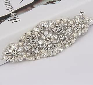 Trlyc Authentic Crystal Rhinestone Trim, Rhinestone Applique, Rhinestone Headband, Rhinestone Belt, Bridal Sash, Wedding Garter