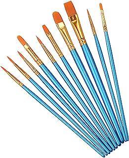 برس برس رنگی الیزل 10 عددی برس آبرنگ برس قلم مو مخصوص کودکان و بزرگسالان برای ایجاد نقاشی هنری (10 قلم مو)
