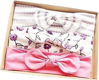 Bllatta Bandeaux de Cheveux B/éb/é Fille Bandeau Nouveau-N/é Accessoire de Photographie de Cheveux Bande Cadeau B/éb/é Fille 3Pcs