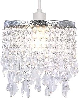 Moderna lámpara de techo de diseño con sombra de acrílico transparente