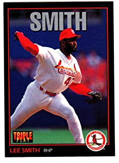 LEE SMITH 2019 HOF Hall of Fame ST. LOUIS CARDINALS 1993 Triple Play #83