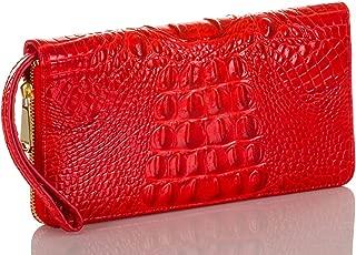 Brahmin Melbourne Collection Crocodile-Embossed Jane Mini Bifold Wallet