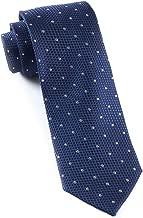 The Tie Bar 100% Woven Silk Navy Solid Textured Grenafaux Dots Tie