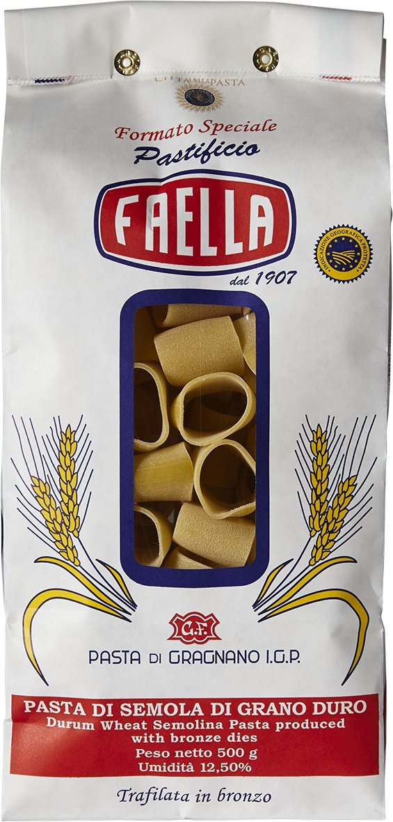 Faella Mezzi Paccheri Pasta - IGP Gragnano - 1.1 lb