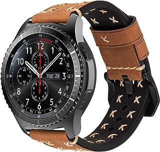 iBazal - Correa clásica para reloj de reemplazo 22 mm para Gear S3 Frontier/Classic color Chic Brown