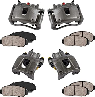 COEK00275 2 Quiet Low Dust Ceramic Brake Pads FRONT Premium Loaded OE Caliper Assembly Set