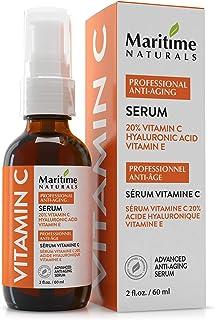 Canada's Premium 60ml 20% Vitamin C Serum with 11% Hyaluronic Acid & Vitamin E Moisturizer - Organic Face Topical Serum - ...