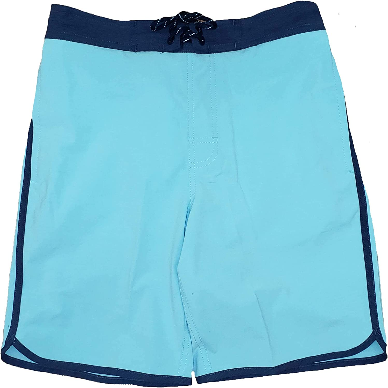Turquoise Stone Sunwashed E-Board Swim Short Trunks