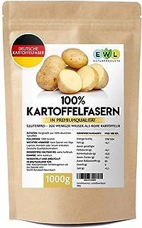 Kartoffelfasern Kartoffelmehl Kartoffelfasermehl I Aus deutschen Kartoffeln I Kontrolliert und abgefüllt in Deutschland Kartoffelfaser im wiederverschließbaren Beutel 1kg