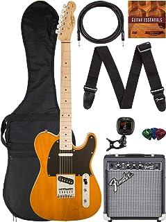 Best Fender Squier Affinity Telecaster - Butterscotch Blonde Bundle with Frontman 10G Amplifier, Gig Bag, Instrument Cable, Tuner, Strap, Picks, and Austin Bazaar Instructional DVD Reviews