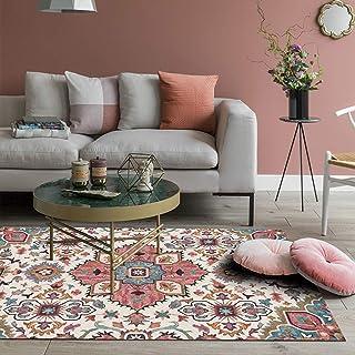 Vintage Flowers Rustic Area Rugs Bohemian Carpet Floor Mat Large for Living Room Bedroom Sofa Hallway (80 x 120cm)