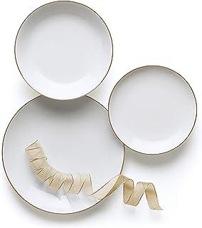 Excelsa Gold Service de table 18 pièces en porcelaine